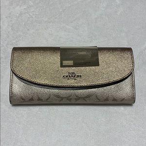 COACH Metaic signature slim envelop wallet